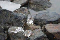 Kamienie i lód Zdjęcia Royalty Free