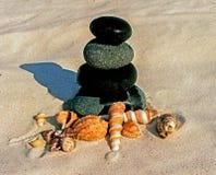 Kamienie i seashells Obrazy Stock