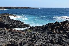 Kamienie i wybrzeże Fuerteventura, wyspa kanaryjska Zdjęcia Royalty Free