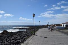 Kamienie i wybrzeże Fuerteventura, wyspa kanaryjska Fotografia Stock