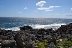 Kamienie i wybrzeże Fuerteventura, wyspa kanaryjska Obrazy Royalty Free