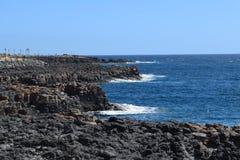 Kamienie i wybrzeże Fuerteventura, wyspa kanaryjska Zdjęcie Stock