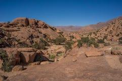 Kamienie kształtują teren blisko Tafraoute, Maroko, Afrika Zdjęcia Royalty Free