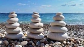 Kamienie na plaży Fotografia Stock