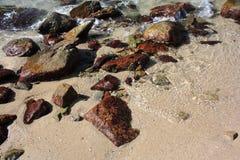 Kamienie na plaży Obrazy Royalty Free