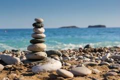 Kamienie na plaży Obrazy Stock