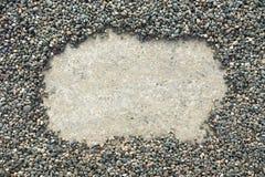 Kamienie obramiają tło Fotografia Stock