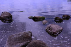 kamienie pod wodą Fotografia Royalty Free