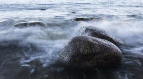 Kamienie przy nadmorski Fotografia Stock