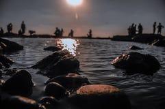 Kamienie przy plażą Zdjęcia Stock
