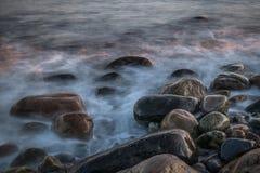 Kamienie przy plażą Zdjęcie Stock