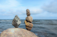 Kamienie przy seashore Obrazy Royalty Free