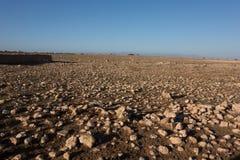 Kamienie w marokańczyka krajobrazie Zdjęcia Royalty Free