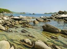 Kamienie w morzu Zdjęcia Royalty Free