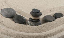 Kamienie w piasku Zdjęcia Stock