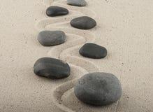 Kamienie w piasku Obrazy Royalty Free