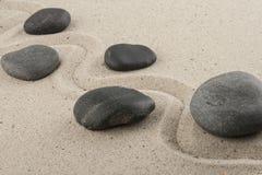 Kamienie w piasku Obraz Royalty Free