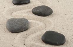 Kamienie w piasku Obraz Stock