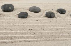 Kamienie w piasku Fotografia Stock