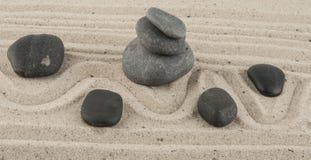 Kamienie w piasku Fotografia Royalty Free