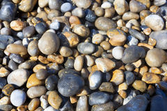 Kamienie w plaży, nakrętka Gris Nez, Cote d ` opal, pas-de-calais, Zdjęcie Stock
