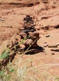Kamienie w pustynnym wadiego rumu fotografia royalty free