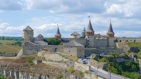 Kamieniec Podolski - eine alte mittelalterliche Stadt voll von Monumenten - Ca Stockfoto