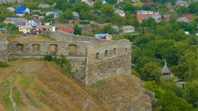 Kamieniec Podolski - eine alte mittelalterliche Stadt voll von Monumenten - Ca Lizenzfreies Stockfoto