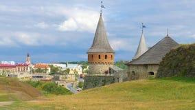 Kamieniec Podolski - eine alte mittelalterliche Stadt voll von Monumenten - Ca Stockfotografie