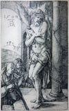 Kamieniodruk torturujący jezus chrystus Albert Durer. royalty ilustracja