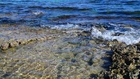 Kamienisty wybrzeże morze śródziemnomorskie blisko wyspy Cypr zbiory