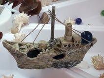 Kamienna łódź fotografia stock