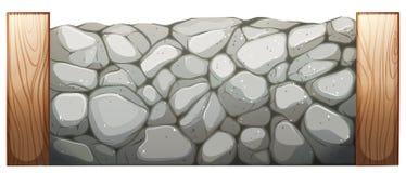 Kamienna ściana ilustracja wektor