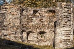 Kamienna ściana antyczny monaster fotografia stock