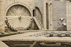 kamienna ściana tuff z wzorem z okrąg chrzcielnic abstrakcją zdjęcie stock