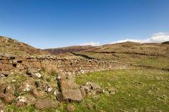 Kamienna ściana - wyspa Skye obraz royalty free