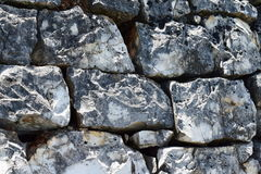 Kamienna ściana z cieniami szarość, czarny i biały Obraz Royalty Free