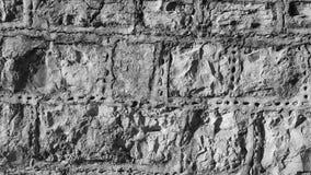 Kamienna ściana z patka krzemieniem i wskazywać wkłada czarny i biały, monochrom fotografia royalty free