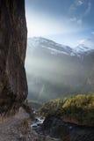 Kamienna ścieżka w górach fotografia stock