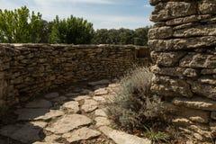 Kamienna ścieżka, wioski des Bories, Francja zdjęcie stock