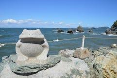 Kamienna żaby statua Przy Ise Japonia Obrazy Stock