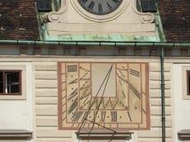 Kamienna architektura domowe fasady i zabytki, Wiedeń, Austria zdjęcie royalty free