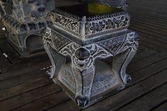 Kamienna ławka Zdjęcia Royalty Free