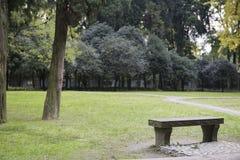 Kamienna ławka Zdjęcie Stock