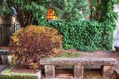 Kamienna ławka Fotografia Stock