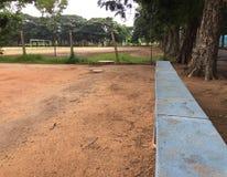 kamienna ławka w boisku obrazy royalty free