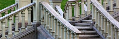 Kamienna balustrada na schody Obrazy Stock