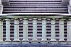 Kamienna balustrada na schody Fotografia Stock