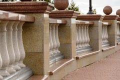 Kamienna balustrada od granitu Obrazy Royalty Free