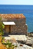 Kamienna chałupa morzem w Monemvasia, Grecja Obraz Stock